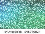 light blue  green vector... | Shutterstock .eps vector #646790824