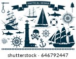 Set Of Sailing Ships With...