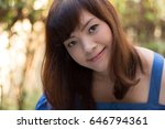 close up of young pretty asian... | Shutterstock . vector #646794361