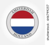holland flag round icon. the... | Shutterstock . vector #646799257