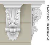 architectural facade classic... | Shutterstock .eps vector #646800961