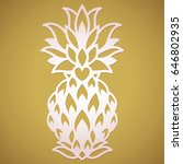 laser cut pineapple wedding... | Shutterstock .eps vector #646802935