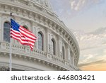 washington dc capitol dome... | Shutterstock . vector #646803421