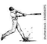 baseball hitter swinging   ...   Shutterstock .eps vector #646806091