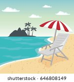 beach vacation design | Shutterstock .eps vector #646808149