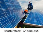 engineer and electrician team...   Shutterstock . vector #646808455