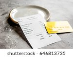 restaurant bill  card and plate ... | Shutterstock . vector #646813735