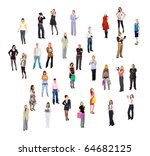 people business concept | Shutterstock . vector #64682125