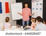 smiling native speaker during... | Shutterstock . vector #646828687