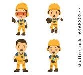 set of character constructor... | Shutterstock .eps vector #646830277