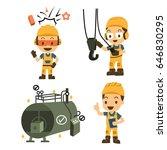 set of character constructor... | Shutterstock .eps vector #646830295