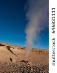 Small photo of Geyser, Altiplano, Bolivia