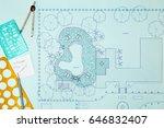 blueprint landscape architect... | Shutterstock . vector #646832407