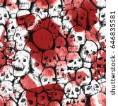 skull and blood pattern | Shutterstock . vector #646835581