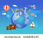travel around the world.... | Shutterstock .eps vector #646848145