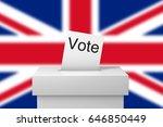 great britain election ballot... | Shutterstock . vector #646850449