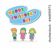 children's day vector... | Shutterstock .eps vector #646850971