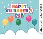 children's day vector... | Shutterstock .eps vector #646851001