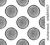 tree rings seamless vector... | Shutterstock .eps vector #646854517