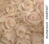 Stock photo vintage wallpaper background with rose 64685467