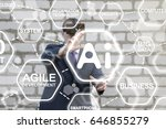 ai vr industry business concept.... | Shutterstock . vector #646855279