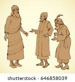 aged bearded noble chaldean in... | Shutterstock .eps vector #646858039