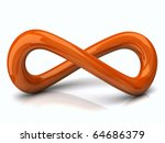 orange infinity symbol | Shutterstock . vector #64686379