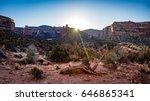 wedding canyon in the colorado... | Shutterstock . vector #646865341