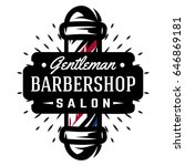 logo for barbershop with barber ... | Shutterstock .eps vector #646869181