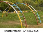 children's arches of stairs | Shutterstock . vector #646869565
