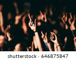 person showing sign of the... | Shutterstock . vector #646875847