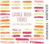 vector set of pink  orange ... | Shutterstock .eps vector #646876135