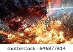 digital illustration of... | Shutterstock . vector #646877614