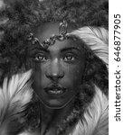 digital illustration of fantasy ... | Shutterstock . vector #646877905