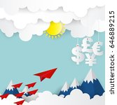 paper plane launch to us dollar ...   Shutterstock .eps vector #646889215