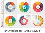 collection of 6 vector circle... | Shutterstock .eps vector #646892275