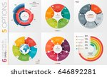 collection of 6 vector circle... | Shutterstock .eps vector #646892281