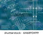 blueprints. mechanical... | Shutterstock .eps vector #646893499