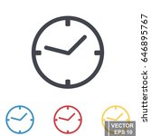 clock icon isolated on white... | Shutterstock .eps vector #646895767