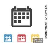 calendar icon isolated on white ...
