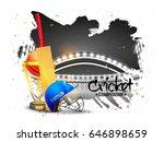 cricket championship background ... | Shutterstock .eps vector #646898659