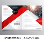 modern business bifold brochure ... | Shutterstock .eps vector #646904101