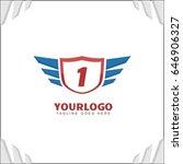 1 letter brand identity. falcon ... | Shutterstock .eps vector #646906327