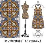 vector fashion illustration ... | Shutterstock .eps vector #646906825