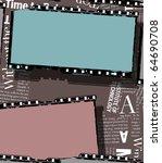 close up of vintage movie film... | Shutterstock . vector #64690708