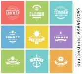 summer holidays design elements ... | Shutterstock .eps vector #646907095