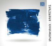 blue brush stroke and texture.... | Shutterstock .eps vector #646907641