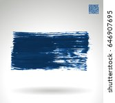 blue brush stroke and texture.... | Shutterstock .eps vector #646907695