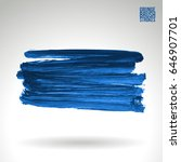 blue brush stroke and texture.... | Shutterstock .eps vector #646907701