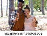 portrait of couple posing... | Shutterstock . vector #646908001